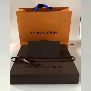 Louis Vuitton gift bag + box + envelope Large